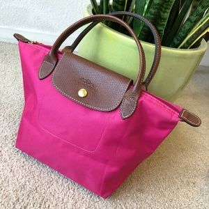 Longchamp Le Pliage Small Pink Handback (Original)